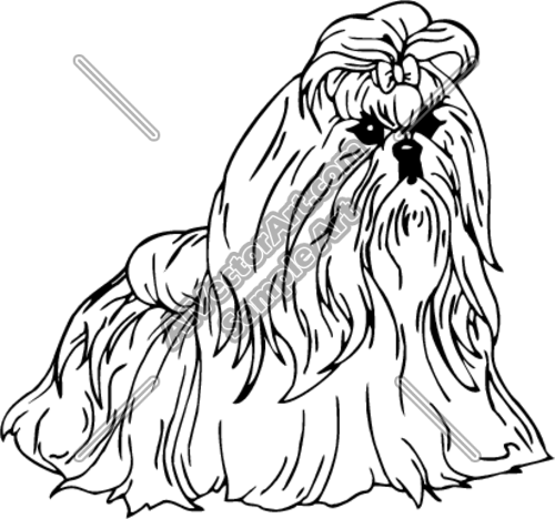 Shih Tzu Clipart And Vectorart Animals Dogs Vectorart And L0dnh5 Clipart Png 500 468 Pixel Dog Coloring Page Coloring Pages Shih Tzu