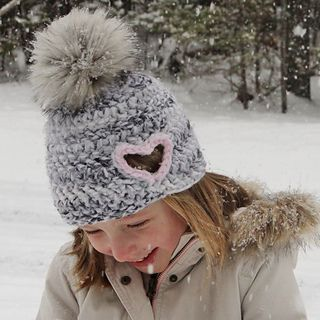 This heart cut out crochet hat is the perfect gift for the ones you love or  as a lovable accessory for yourself this Winter.…  85c5410710f