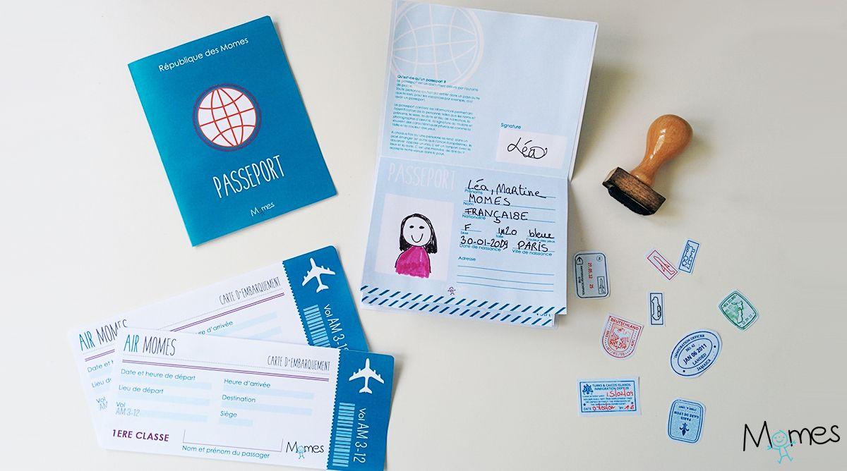 Passeport A Imprimer Pour Jouer Jeux A Imprimer Passeport Et