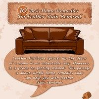 10 Best Home Remedies For Leather Stain Removal Infographic Stain Remover Remedies Home Remedies