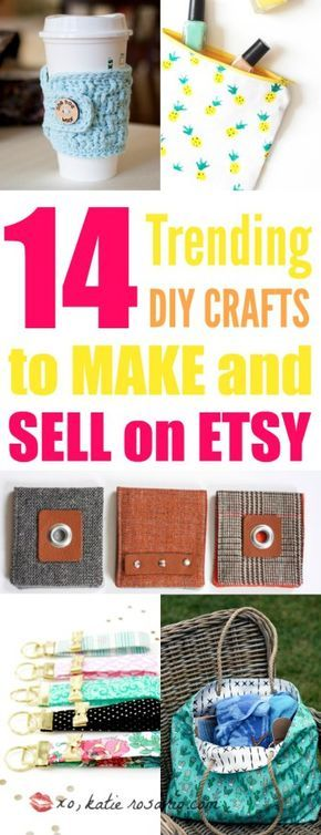 14 Trending Crafts to Make and Sell on Etsy #craftstomakeandsell