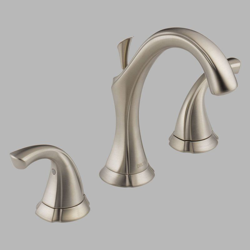 Delta Addison 3592LF Double Handle Widespread Bathroom Sink Faucet - D3592LFSS