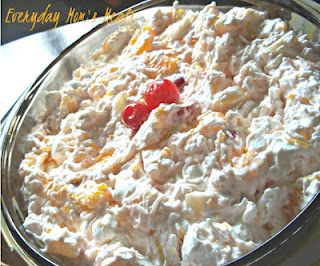 ~Ambrosia~ A creamy delicious fruit salad I've made for years, but easy enough my son can now make too!