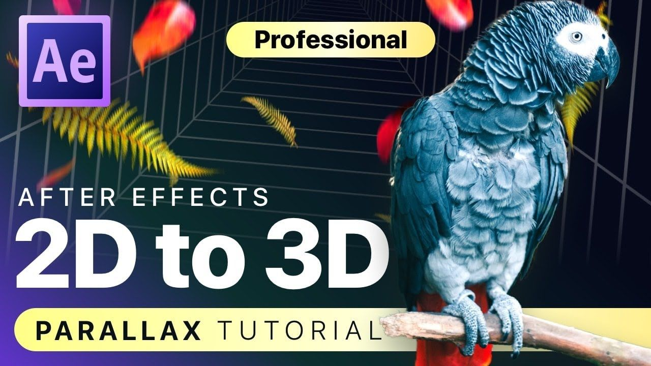 2D to 3D Parallax Animation in After Effects [TUTORIAL
