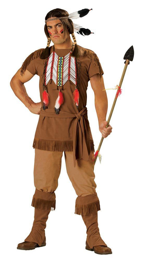 Elite Adult Indian Costume For Halloween  Cowboys And -8335