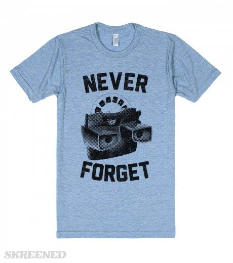 Never Forget (Viewmaster) | So Many memories in this nostalgic shirt. Never forget the viewfinder. #Skreened <3