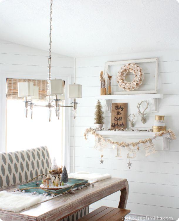 Modern, Whimsical, Gold Christmas Decor