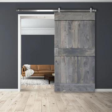 Mid Rail Plank Barn Door In 2020 Wood Doors Interior Barn Doors Sliding Rustic Interior Barn Doors