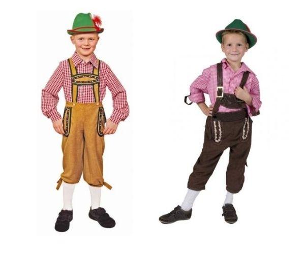 Oktoberfest Kostüm-trachten hose hemd tiroler-Jungen Fasching-Ideen ...