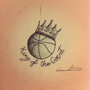queen of the court girly sports pinterest tattoo basketball tattoos and drawings. Black Bedroom Furniture Sets. Home Design Ideas