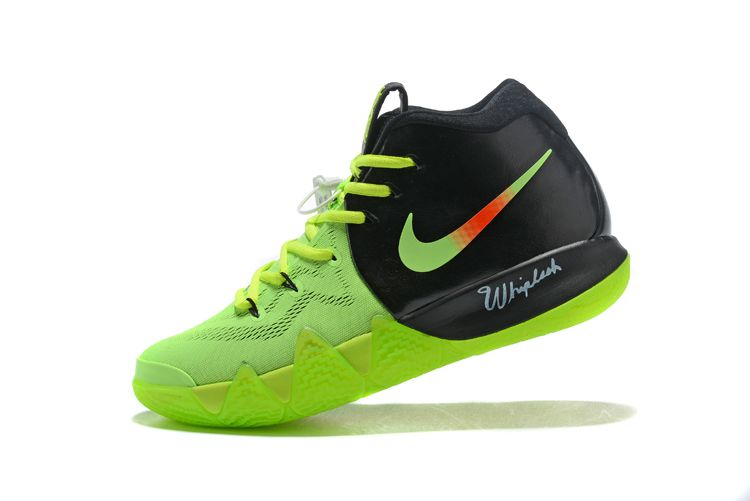 aa8c2995f204 Kyrie Irvings x Nike Kyrie 4 PE Neon Green PE Black Volt Red For Sale