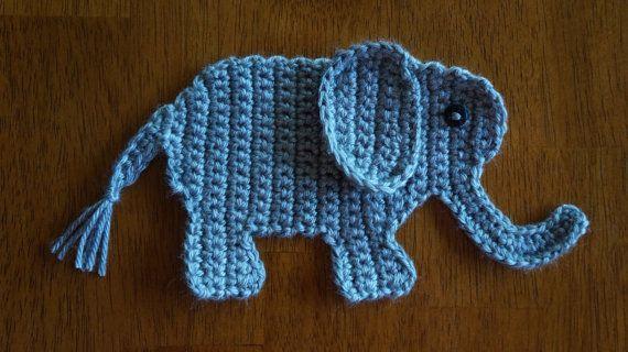 Baby Elephant Crochet Applique Pattern • Kerri's Crochet   320x570