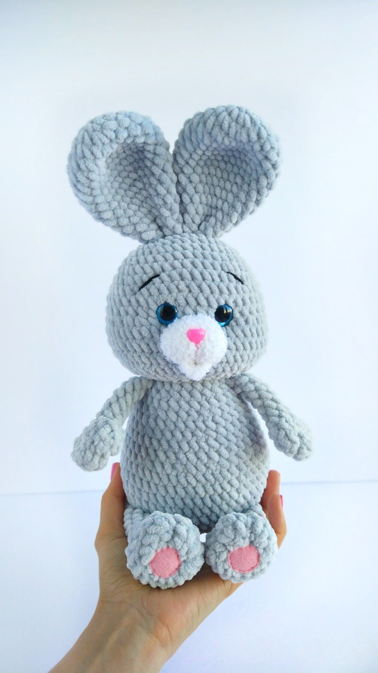 Big Handmade 15'' Knit Amigurumi Rabbit,Crochet Toy,Handmade ... | 2304x1296