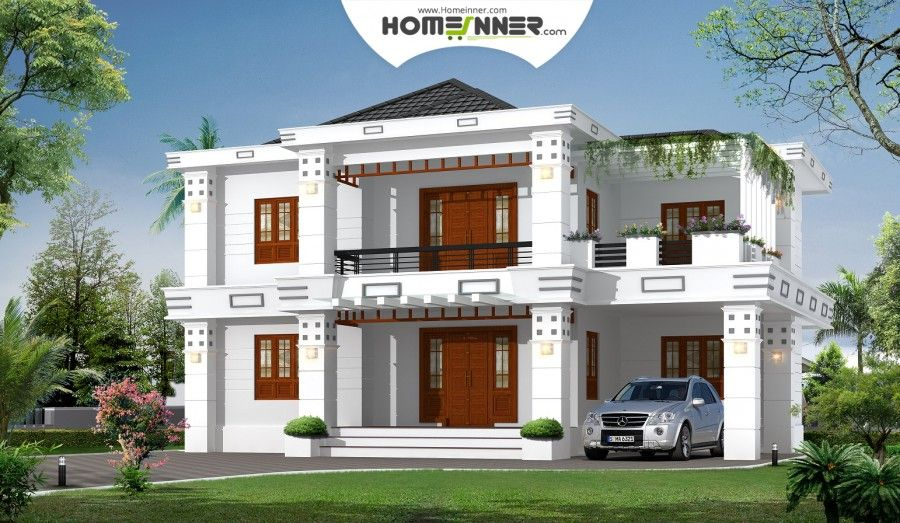 2400 Sq Ft 5 Bhk Modern Box Type Home Design Architectural House Plans House Design House Plans