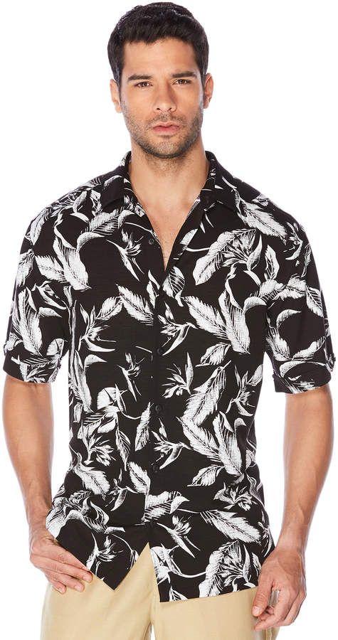 ec6854782b Cubavera Big   Tall Sketched Leaf All Over Shirt