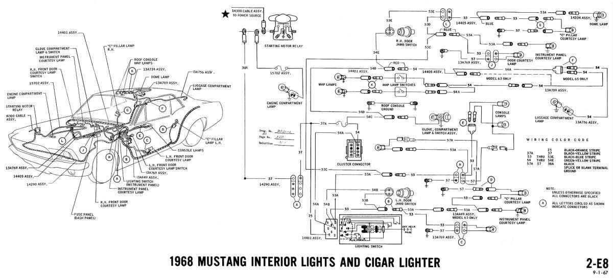 67 mustang engine wiring diagram and mustang wiring diagram