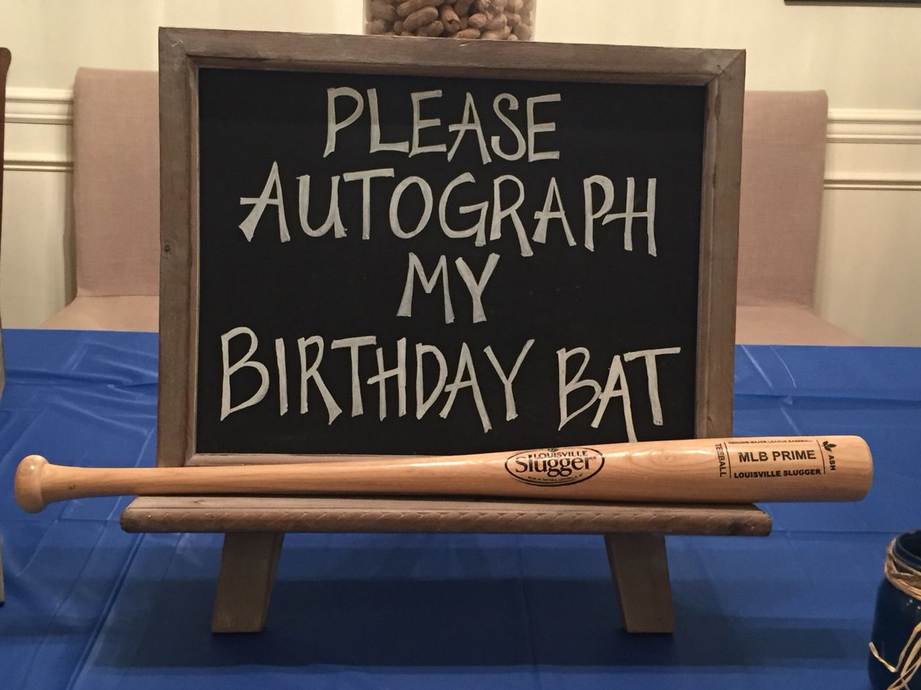 birthday baseball bat guest sign in sports star autographs