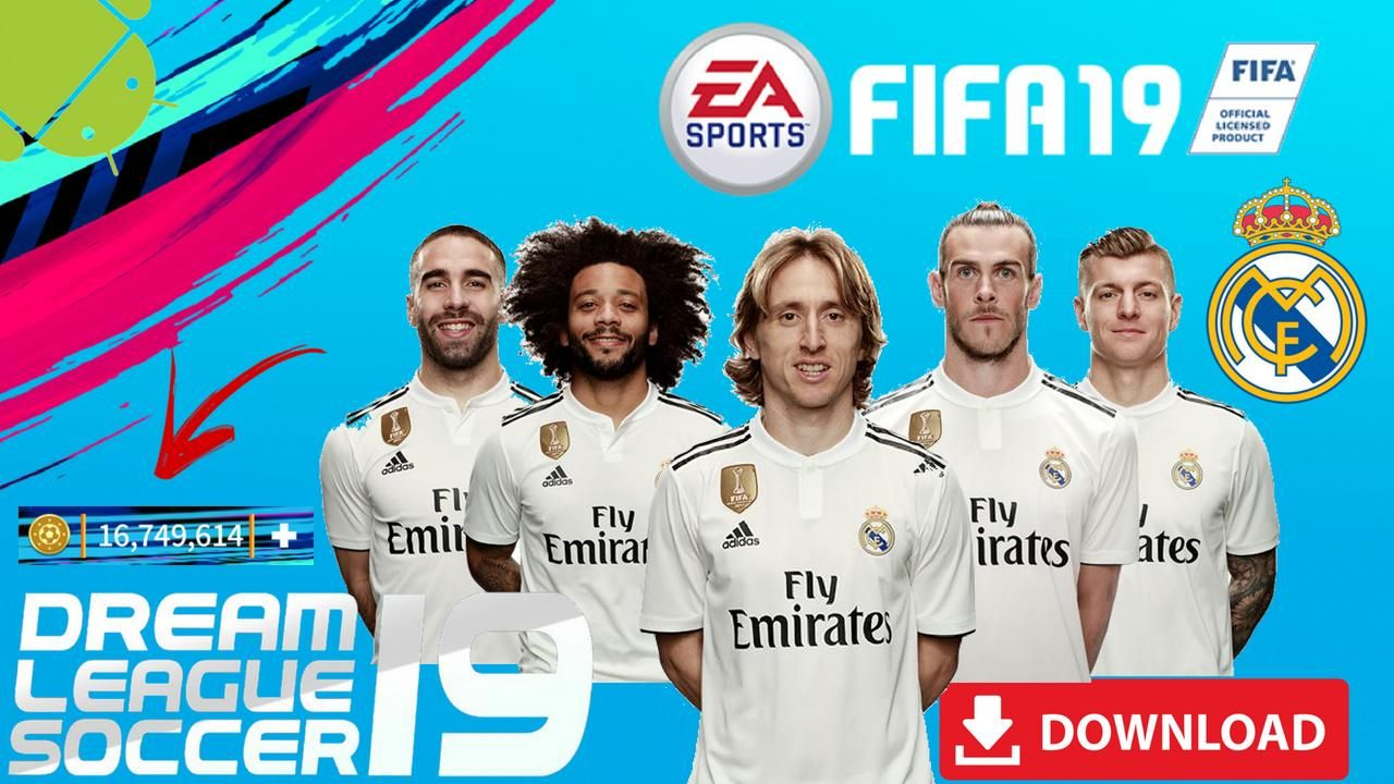 DLS19 Mod Real Madrid FIFA Offline Android Download | Cell