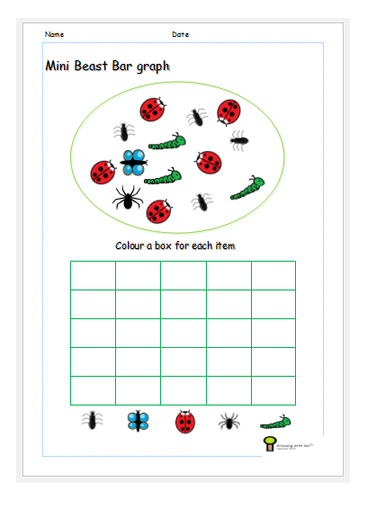 mini beast bar graph teacher worksheet free print ks1 | worksheet ...