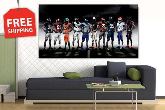 FREE SHIPPING Canvas painting  Champions Wall Art