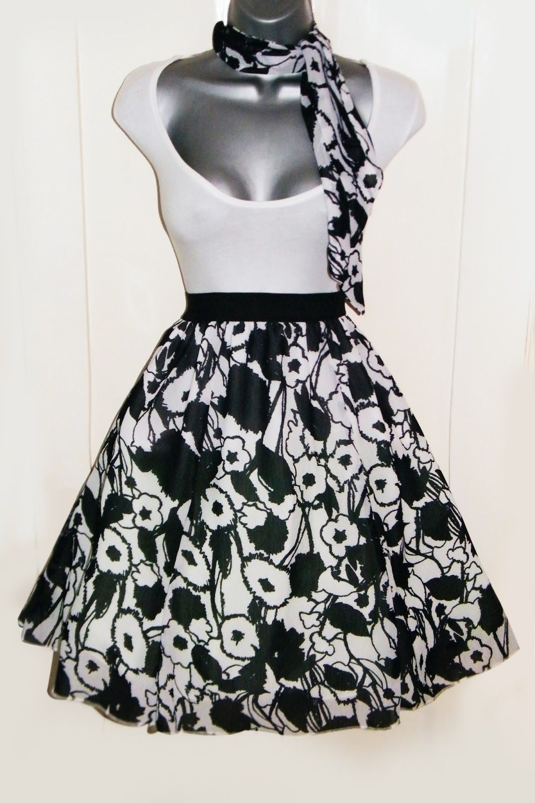 Skirt Upcycle Tutorial Maxi Skirt Into Retro 50s Style
