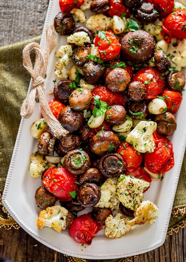 Photo of Italian Roasted Mushrooms and Veggies – Jo Cooks
