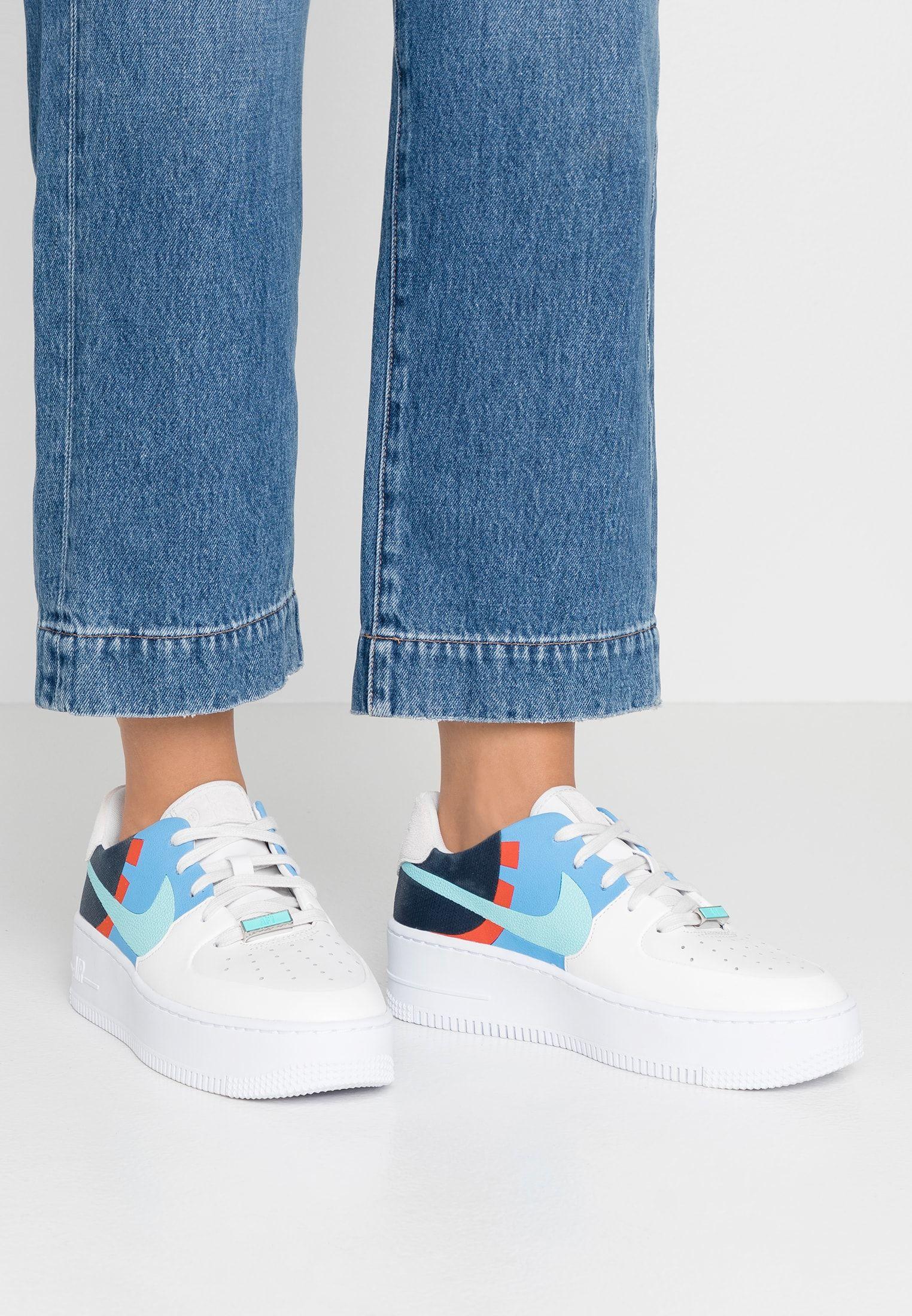 AIR FORCE 1 SAGE - Sneakers laag - platinum tint/light aqua ...