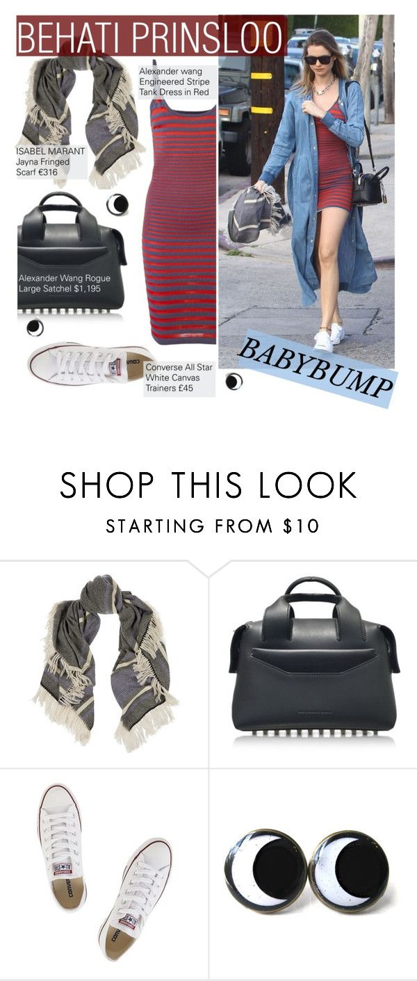 """Behati Prinsloo : Baby Bump Style"" by nindi-wijaya ❤ liked on Polyvore featuring Alexander Wang, Isabel Marant and Converse"