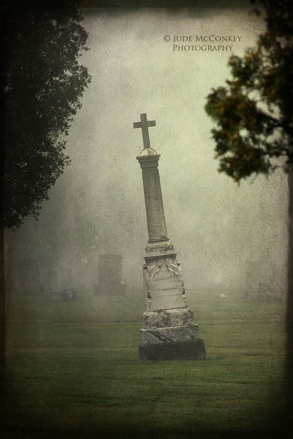 Grave Error on an otherwise Happy Halloween by Gina Hall on Etsy