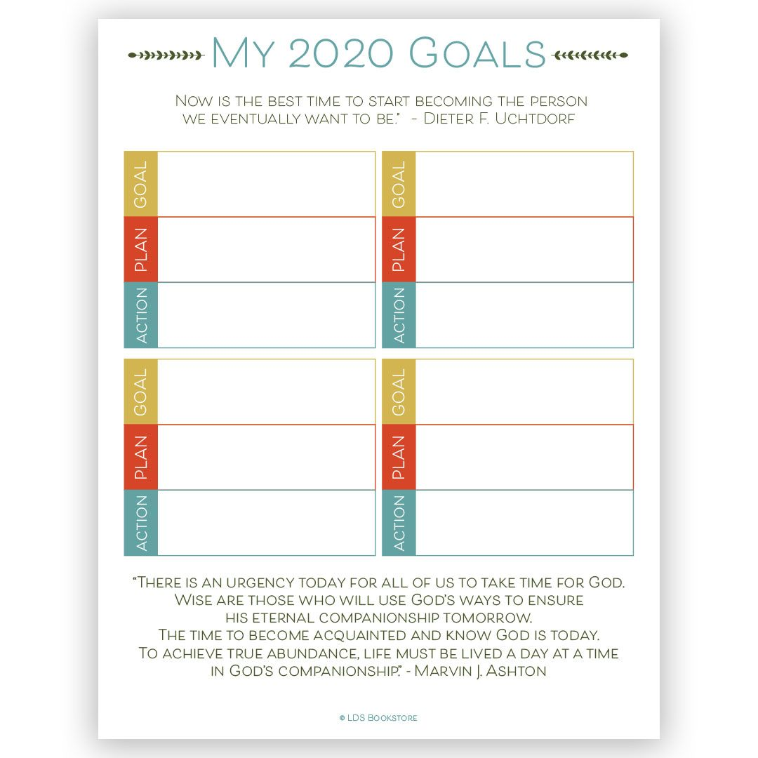 Lds Goal Setting Worksheet In