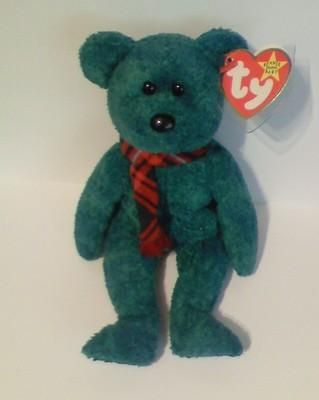 WALLACE THE BEAR  TY BEANIE BABY  RETIRED NEW 8 INCHES