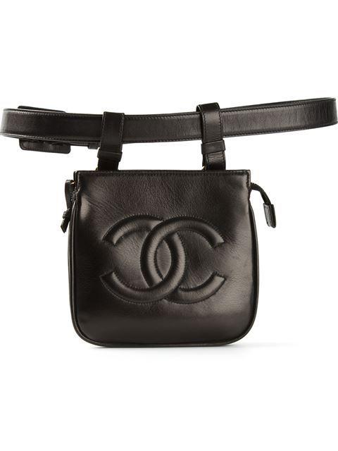Chanel Pre Owned Belt Bag Farfetch Chanel Belt Belt Bag Leather Crossbody Bag