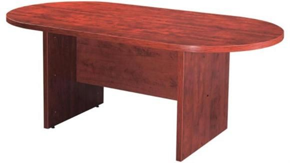 6u0027 Racetrack Conference Table Cherry By Office Source   1 800 460