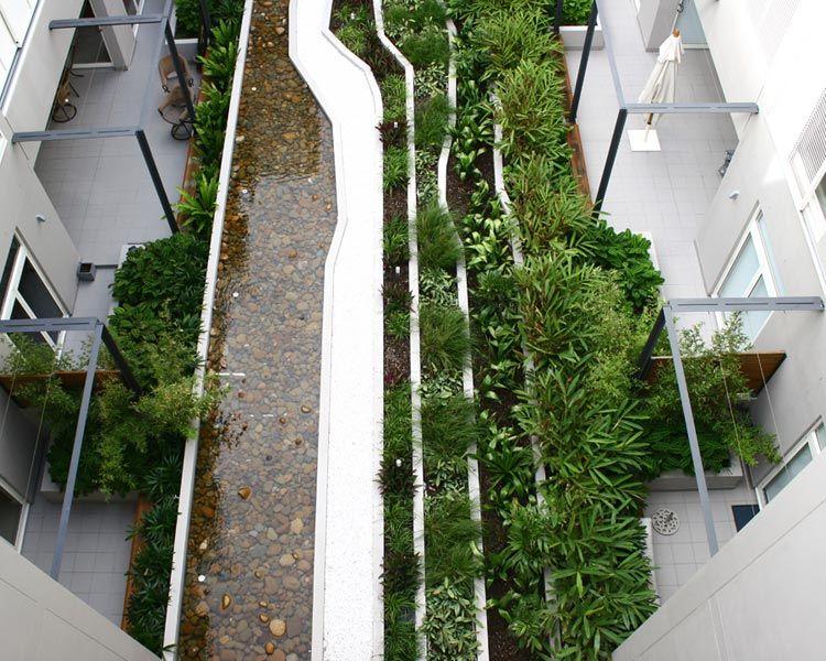 communal green space