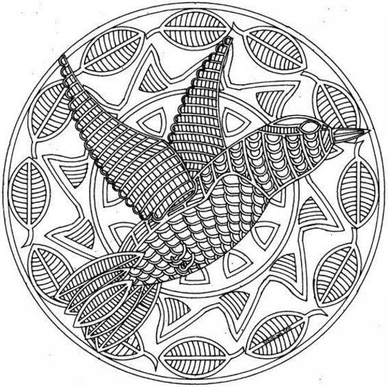 Fancy Coloriage Mandala Ethnique Lignes Symetriques Ideas - Coloring ...