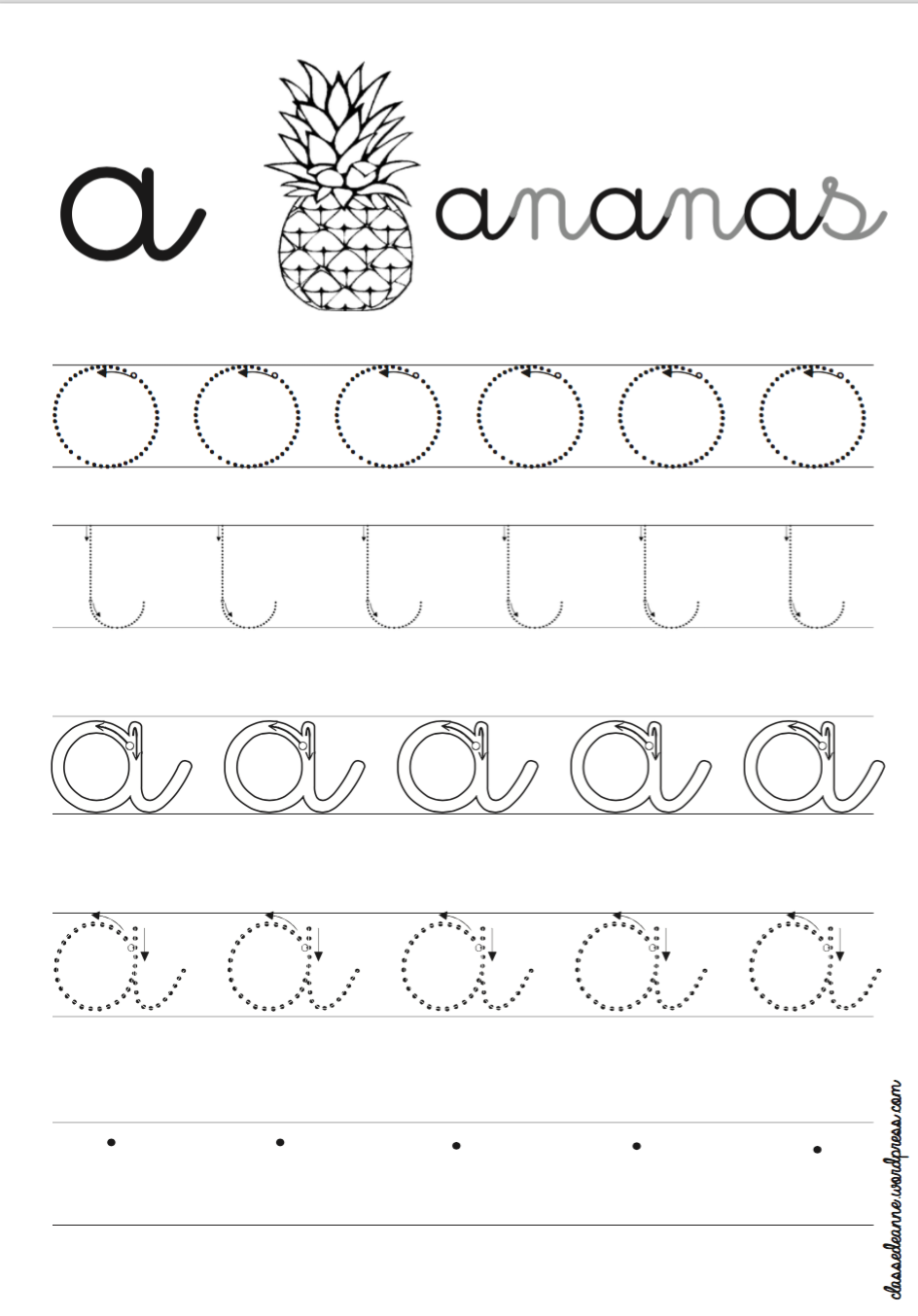 ecriture cursive