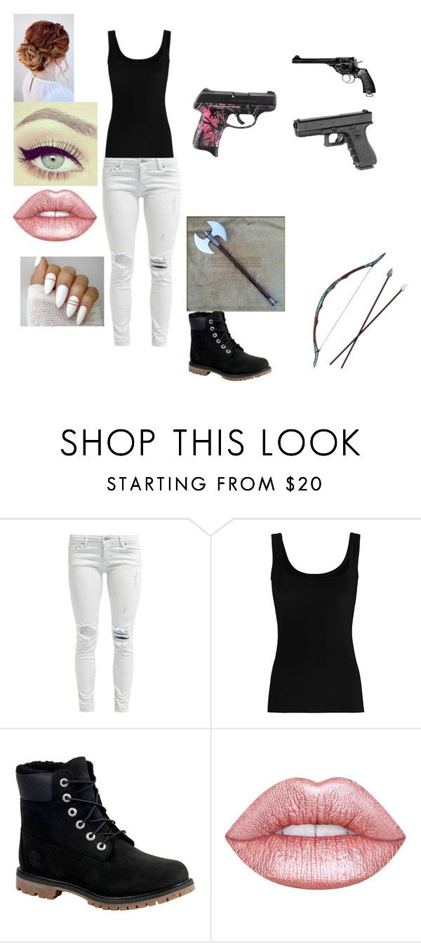 """Untitled #204"" by lilmonster1023 ❤ liked on Polyvore featuring Twenty, Timberland, Revolver and Lime Crime"