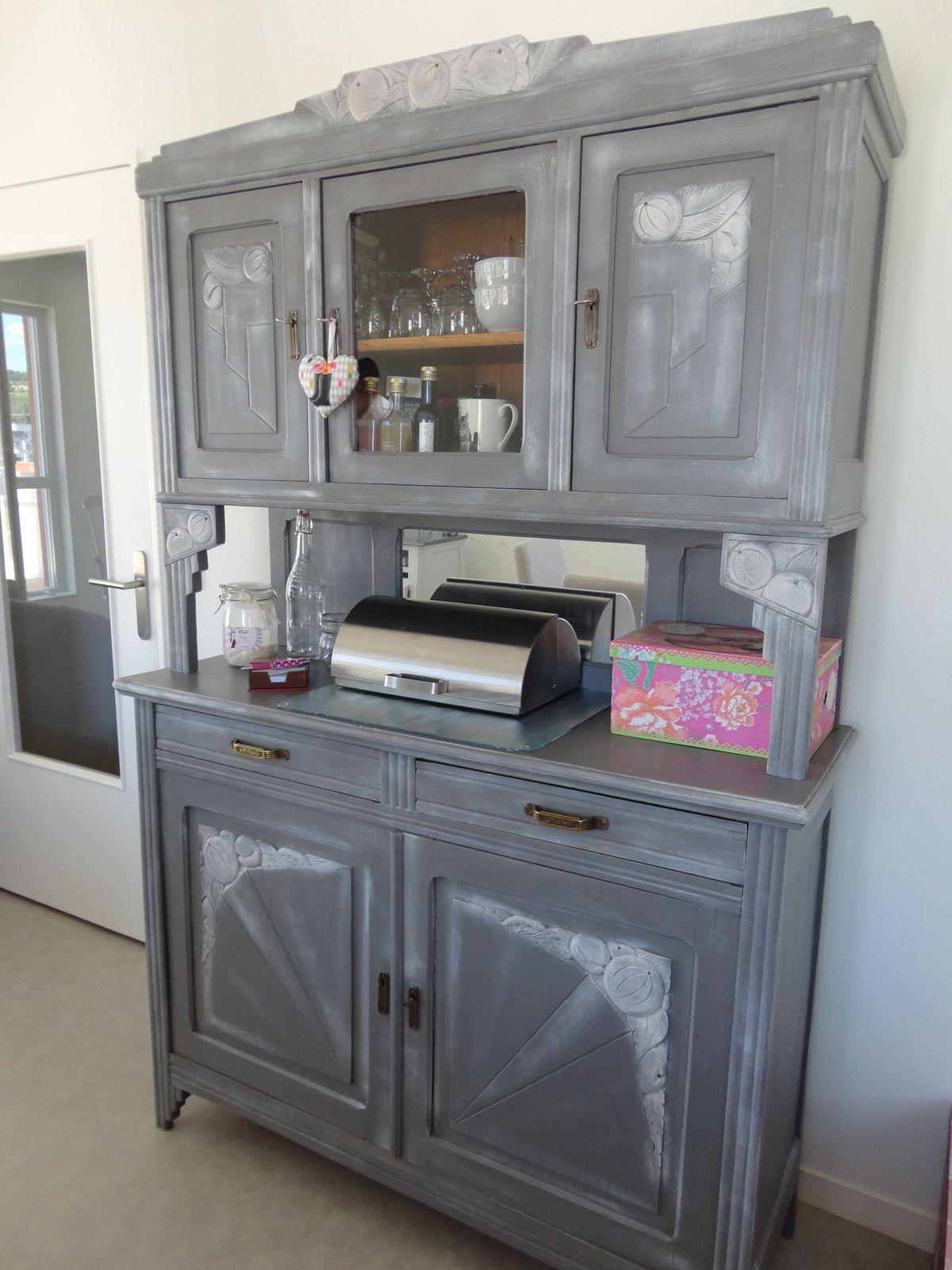 buffet des ann es 30 relook effet chaul en 2019. Black Bedroom Furniture Sets. Home Design Ideas