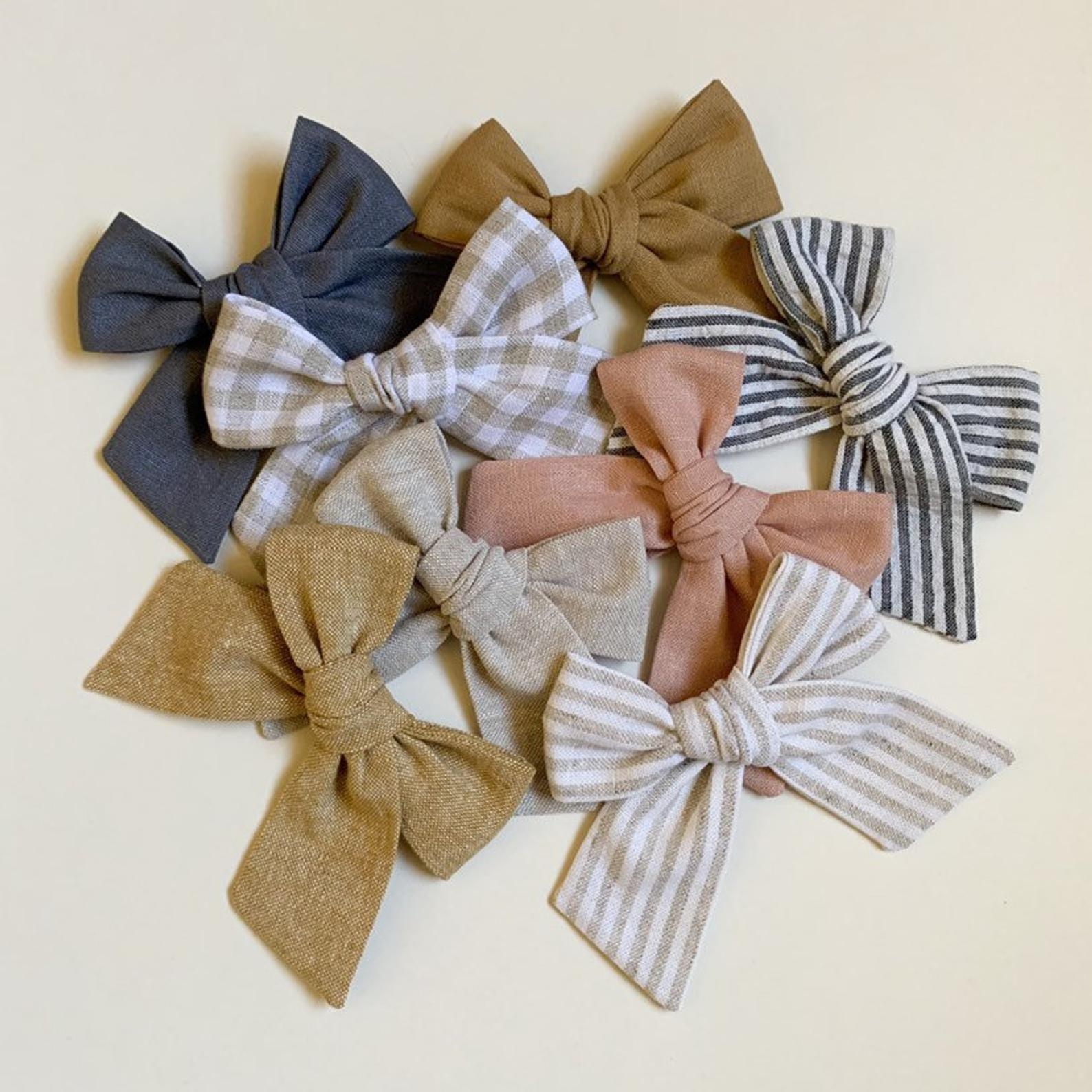 CLEARANCE Baby Bow Baby Headband School Girl  Bow Hand-Tied Baby clip Newborn Headband Handmade