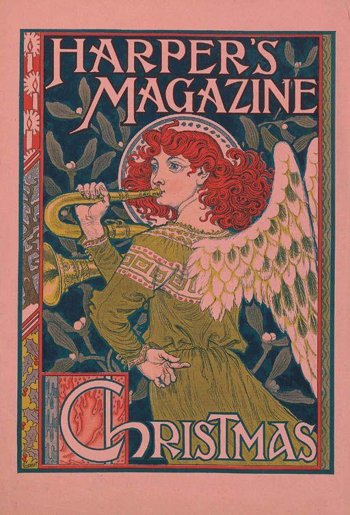 Harper's Magazine Christmas by Eugene Grasset