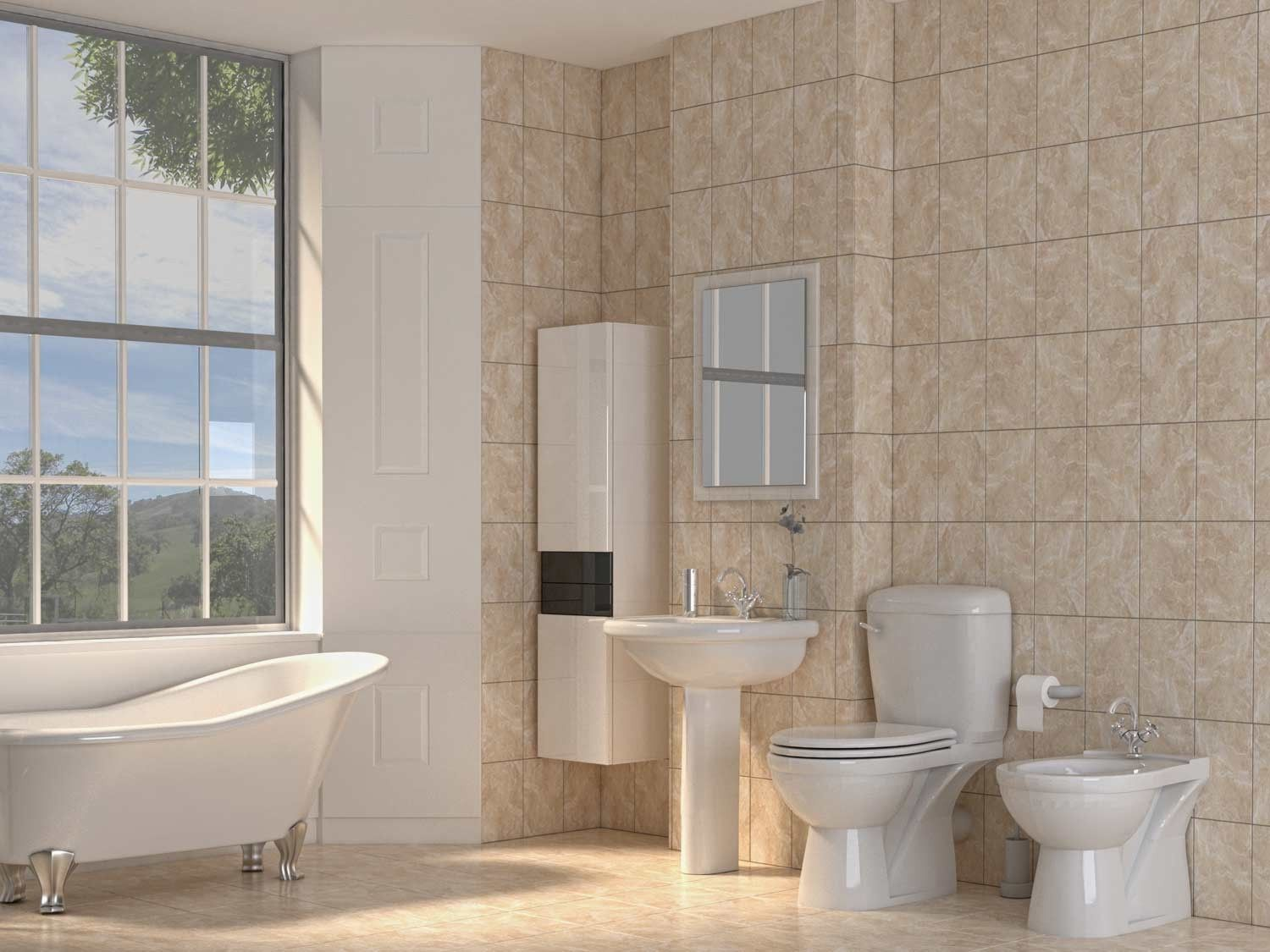 Magnificent Protea Beige Wall Tile Ctm Beautifully Beige Bathrooms Home Interior And Landscaping Pimpapssignezvosmurscom