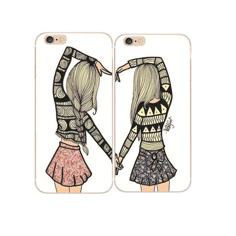 Best friends besties style hard case cover for iphone 4s 5