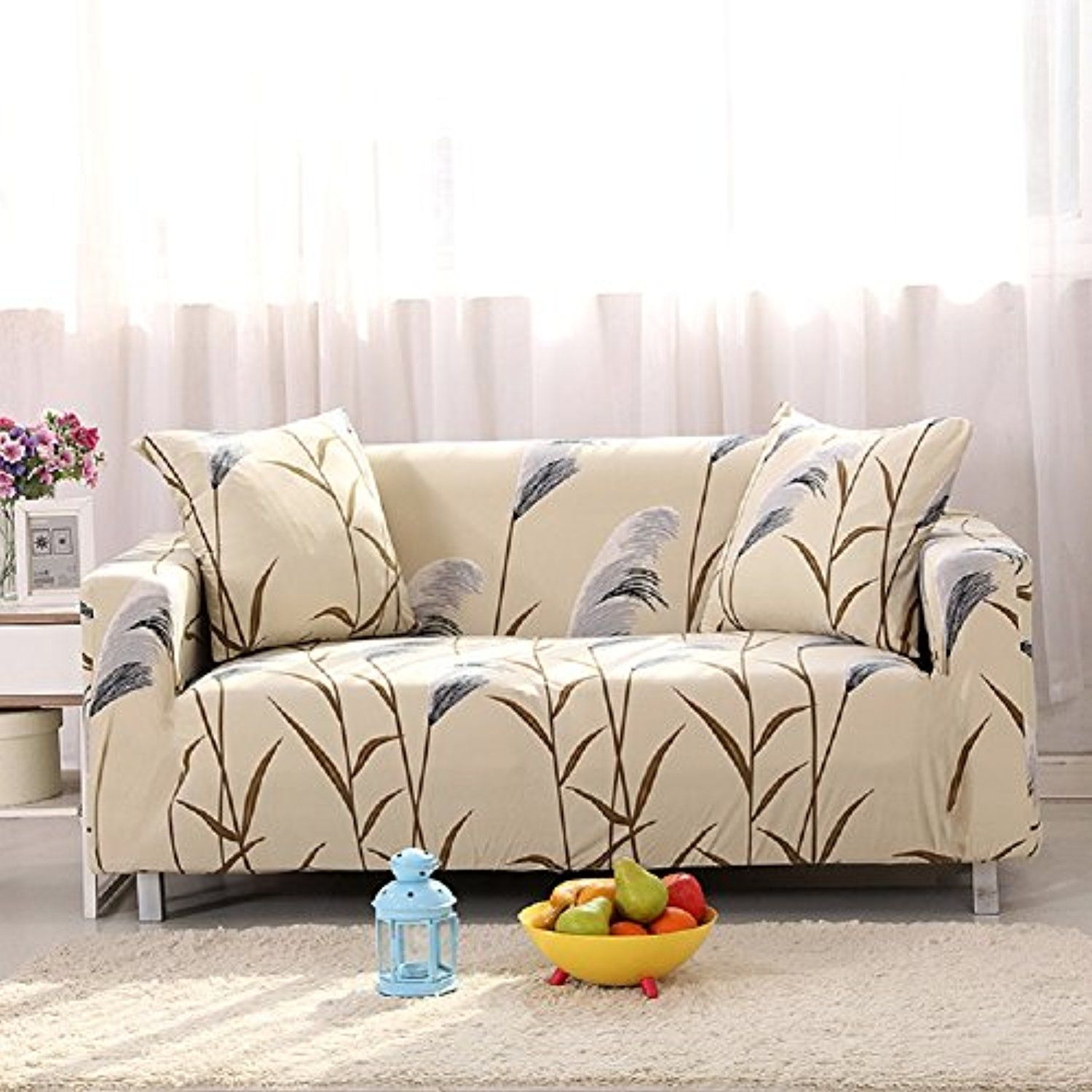 Forcheer Stretch Couch Covers Sofa Slipcovers Fitted Loveseat Cover Seat Furniture Protector Printed Homedc Couch Covers Sofa Covers Couch Covers Slipcovers