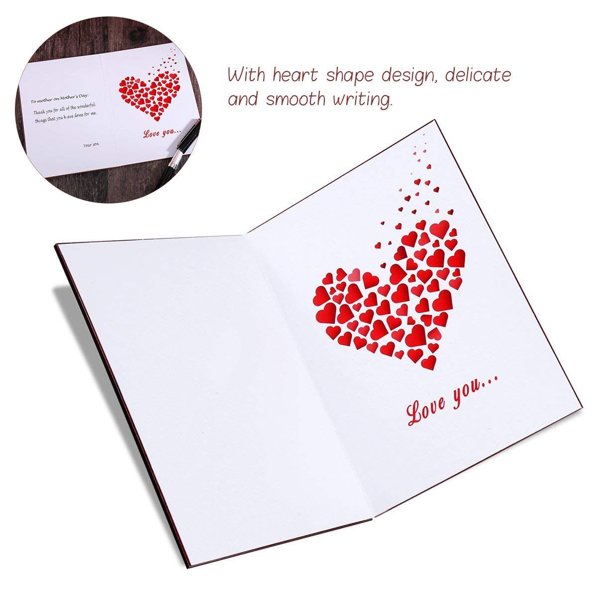 7 99 amazon com love you card handmade for anniversary birthday valentine wedding wooden greeting cards for any occasion office products