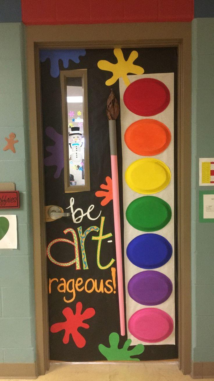 My new art room door Art Room Decor Pinterest Art room doors
