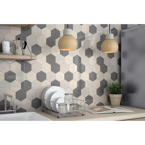 Hedron 5 X 4 Ceramic Field Tile Allmodern Kitchen Wall Tiles Kitchen Tiles Backsplash Kitchen Tiles