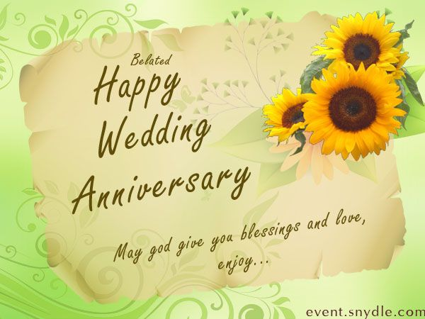 Wedding Anniversary Messages Card