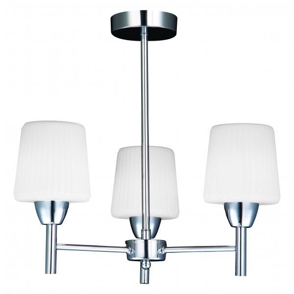 Forum lighting aquarius 3 light bathroom ceiling fixture in polished chrome with frosted glass forum