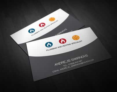 Check Out This Behance Project Business Card For Plumbing And Heating Specialist Https Www Behance Net Gallery 6666627 Busi Cards Business Cards Business