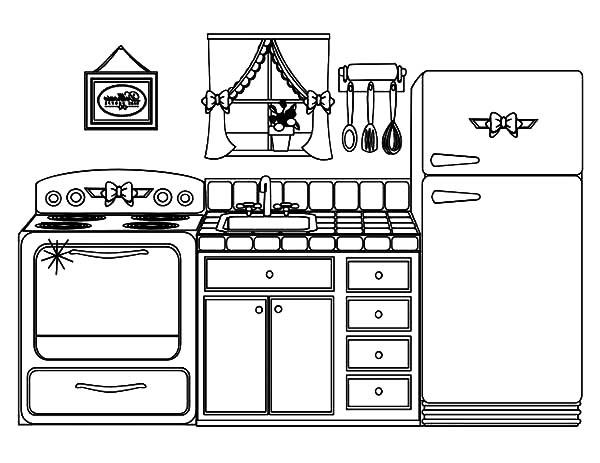 Beautiful Kitchen House Coloring Pages Download Print Online Coloring Pages For Free Color Nim Online Coloring Pages House Colouring Pages Coloring Pages
